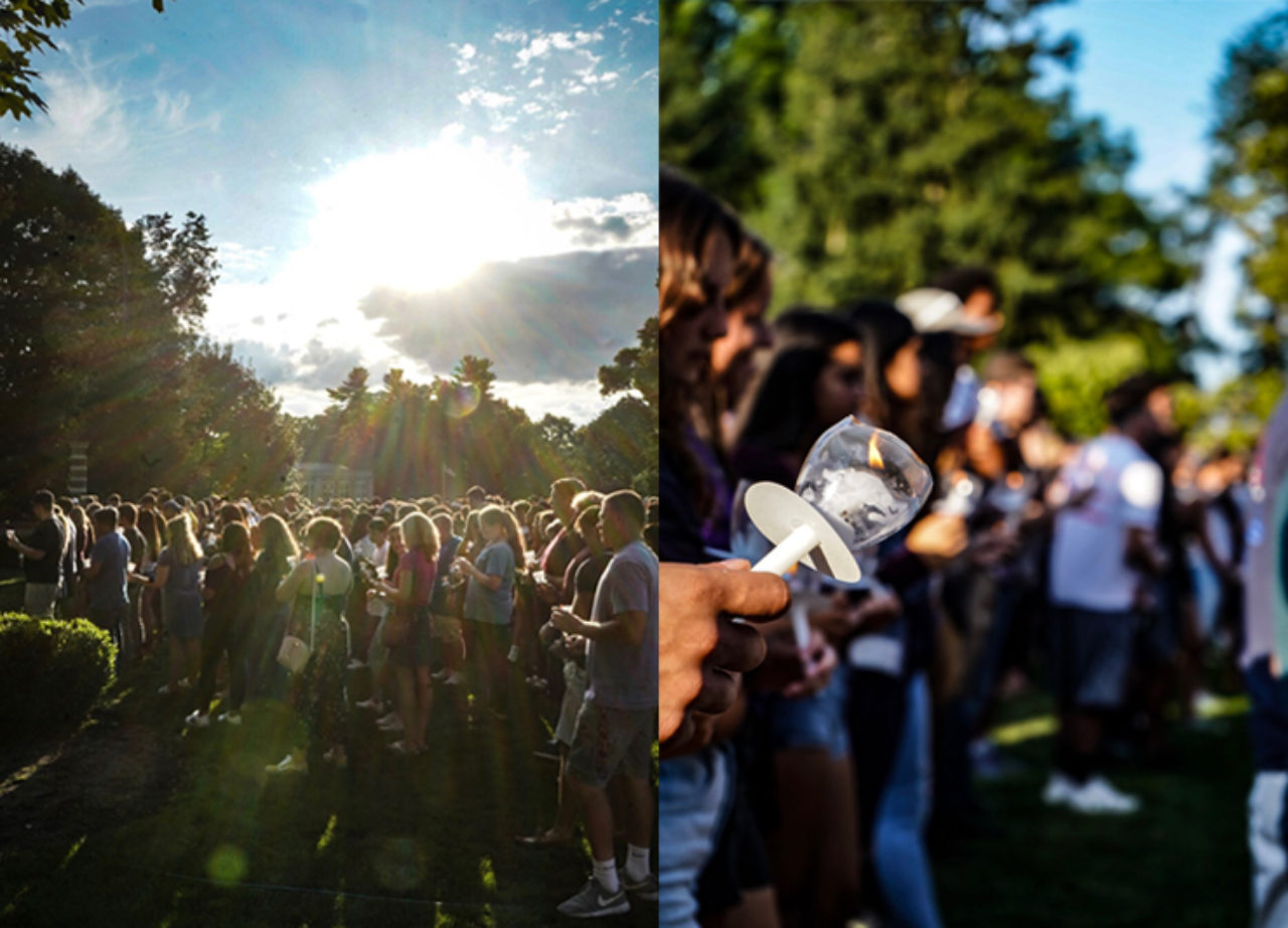 The sun, the candles and our new students all shine brightly!