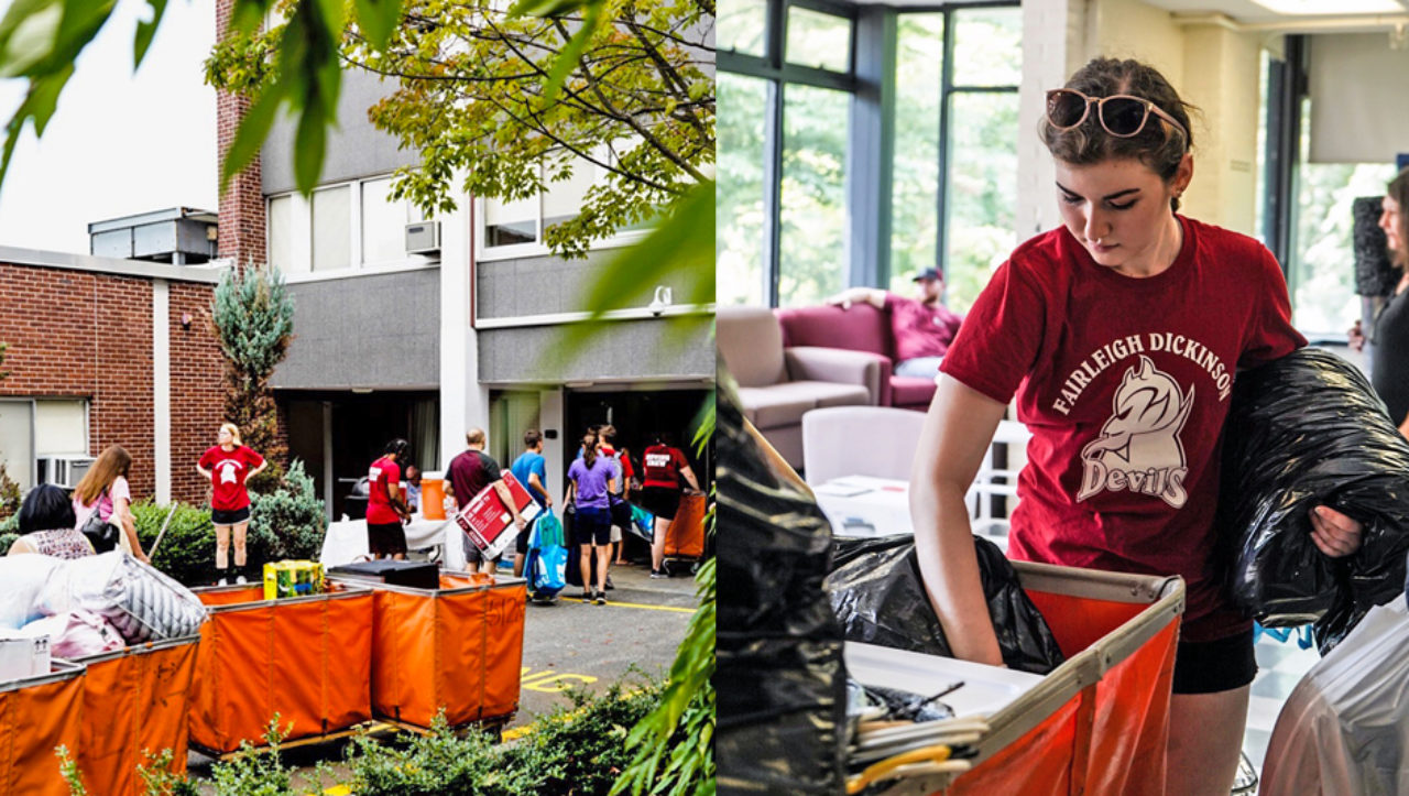 It takes a village for a successful Project Move-in at the Florham Campus.