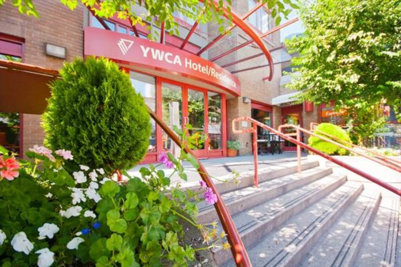 the outside of the YWCA hotel building
