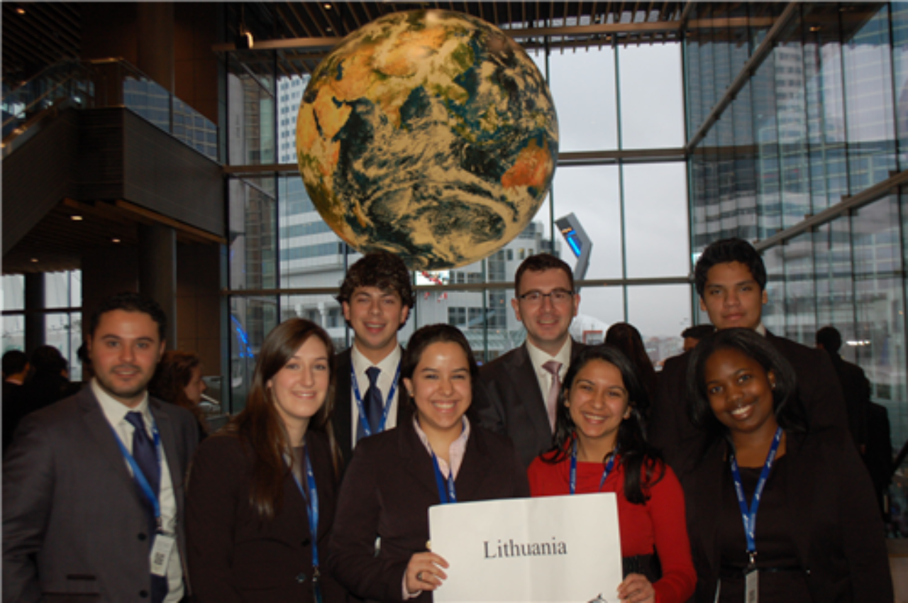 vancouver students at national model united nations as lithuania