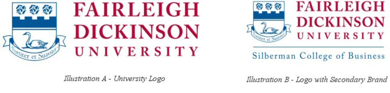 university logo and logo with secondary brand