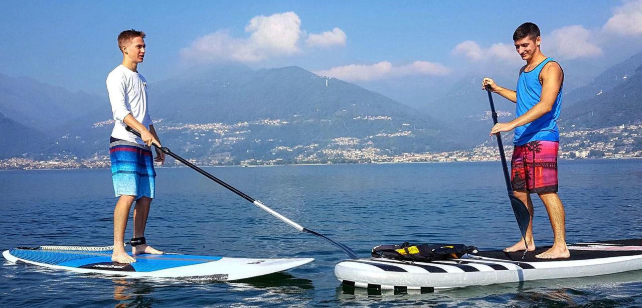 Fiorenza goes paddleboarding on Lake Como.