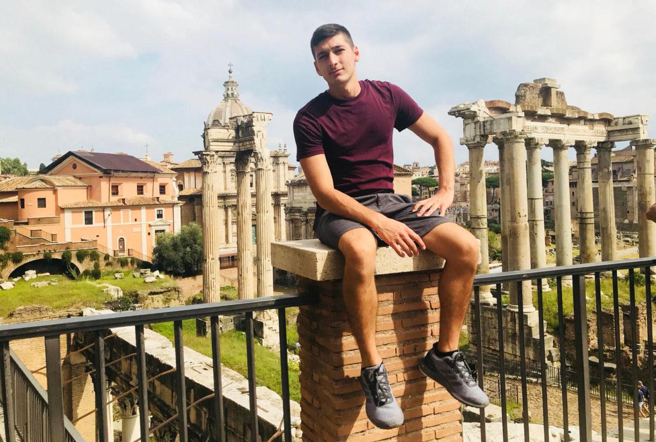 Chris Fiorenza at the Roman Forum.