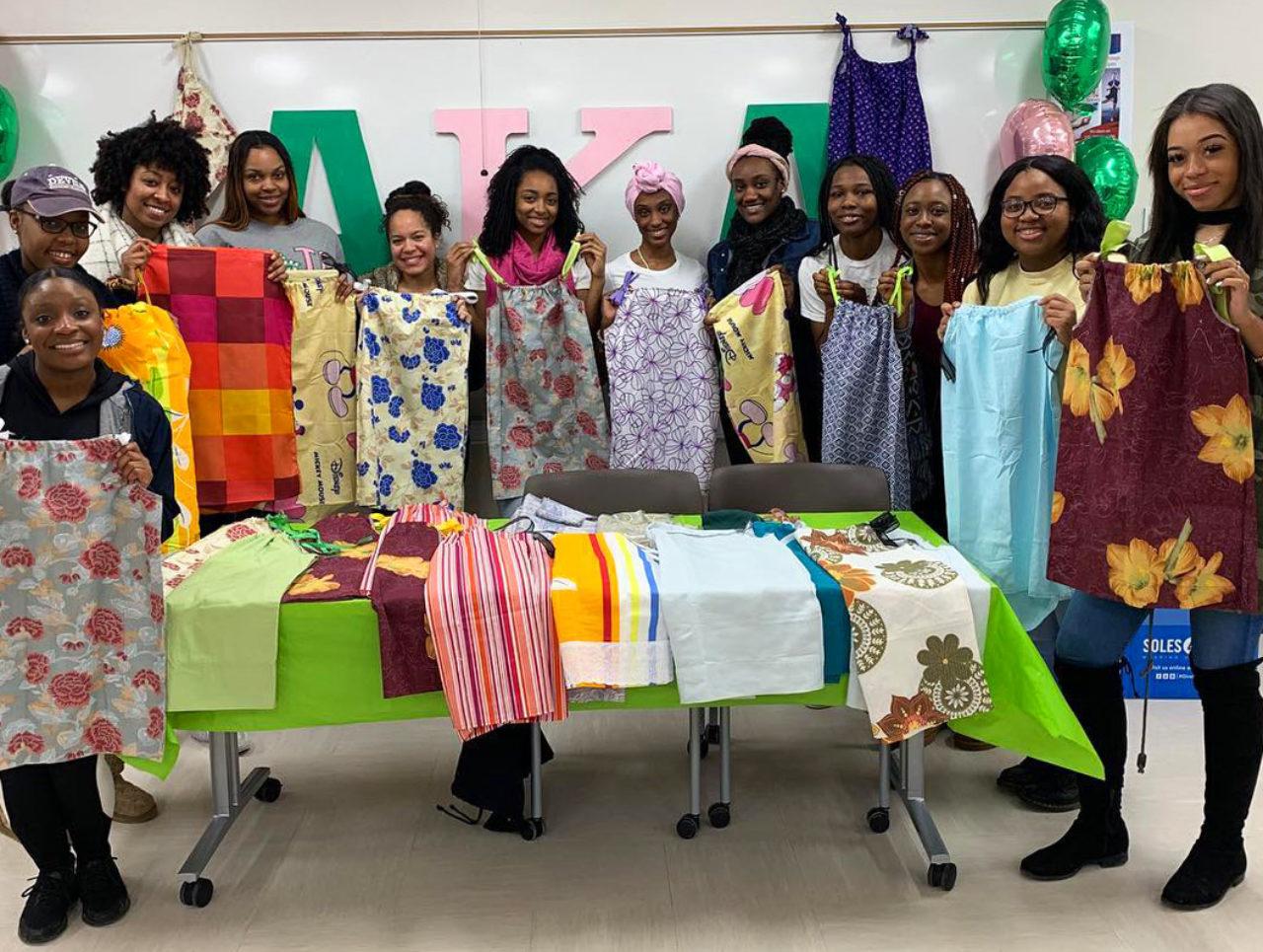 Alpha Kappa Alpha Sorority sewed dresses for girls in Haiti