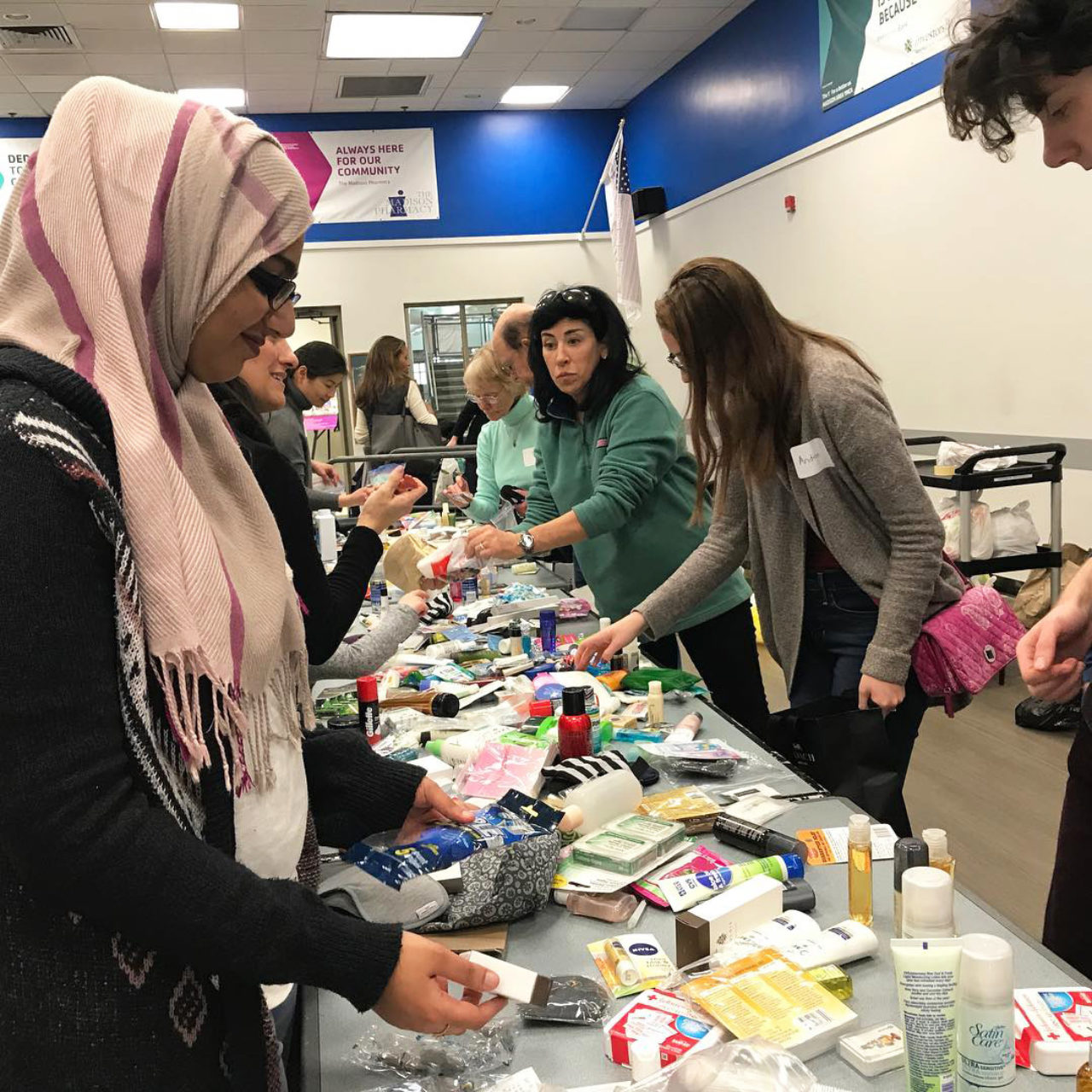Muslim Student Association and Pre-health Society assemble toiletry kits