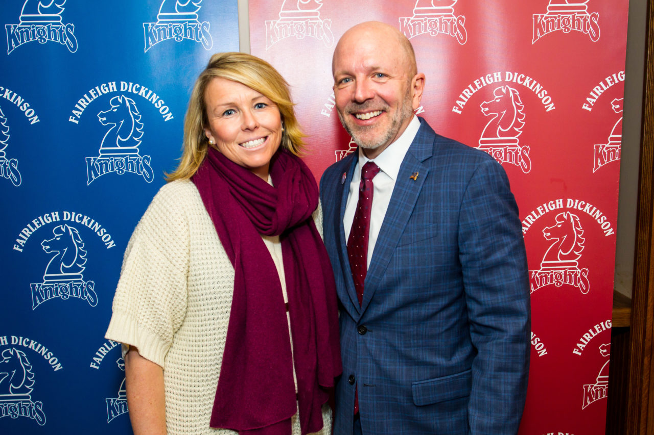 FDU Devils Director of Athletics Jenn Noon and Knights Director of Athletics Brad Hurlbut.