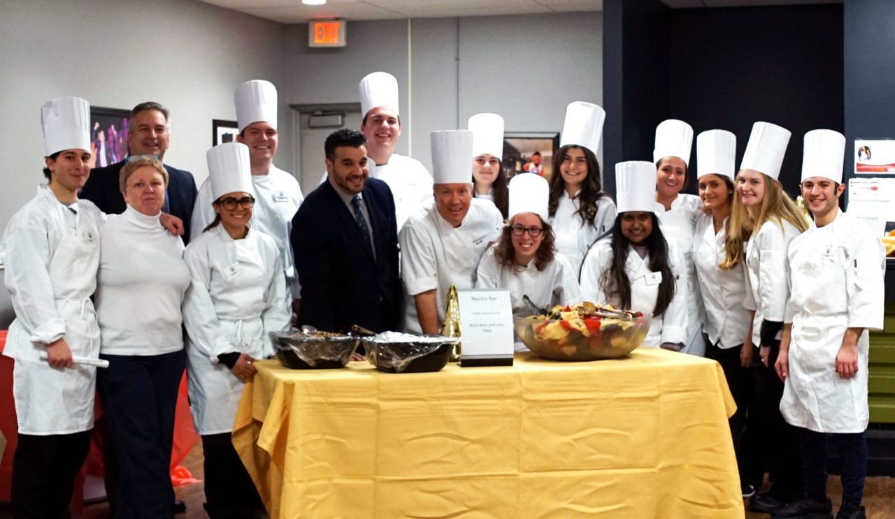 Chef Jeff and students