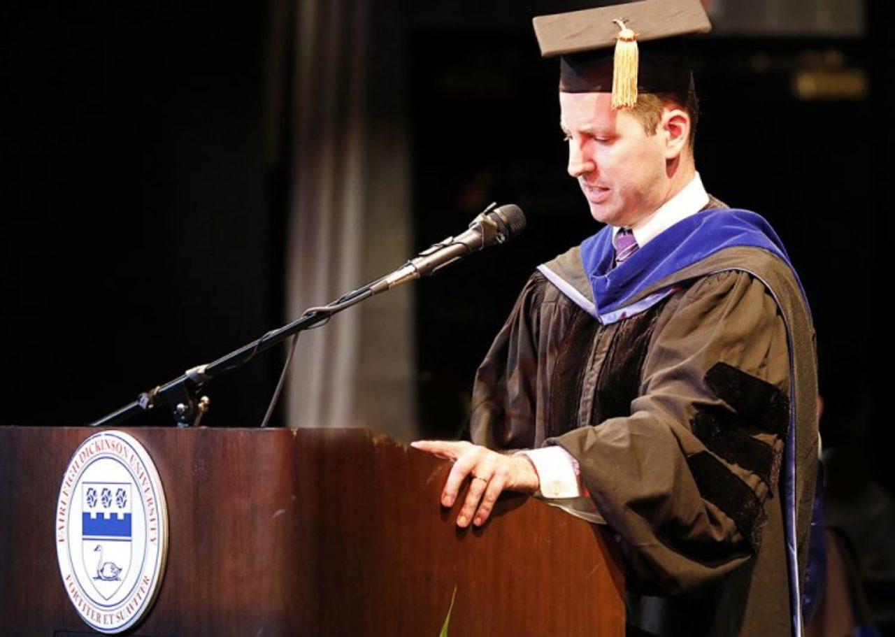 Dan Cassino giving speech
