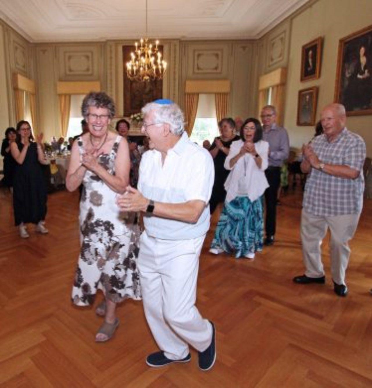 Ullman and Hoffman dancing