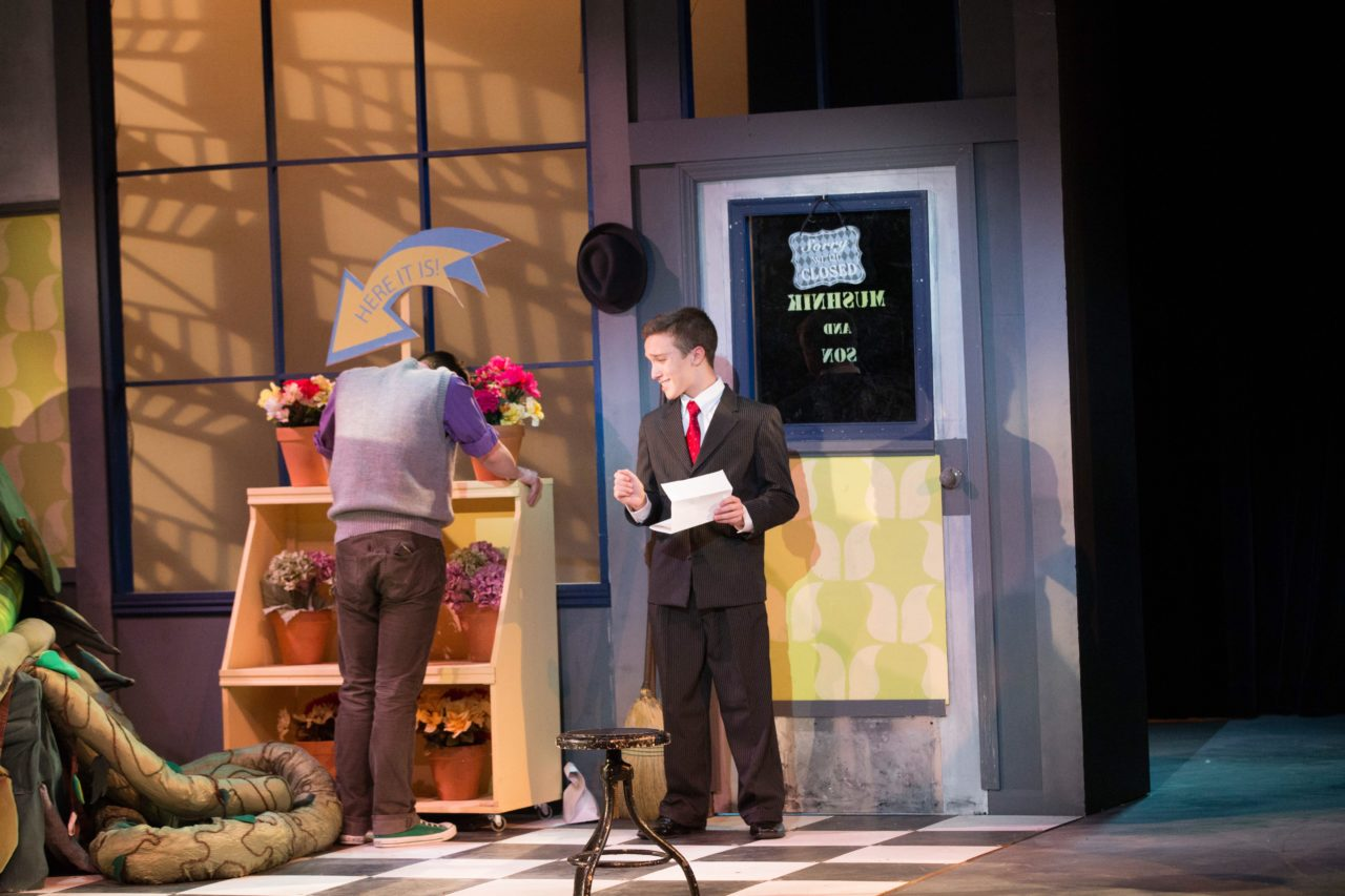 """Andrew Wood in FDU's production of """"Little Shop of Horrors."""""""
