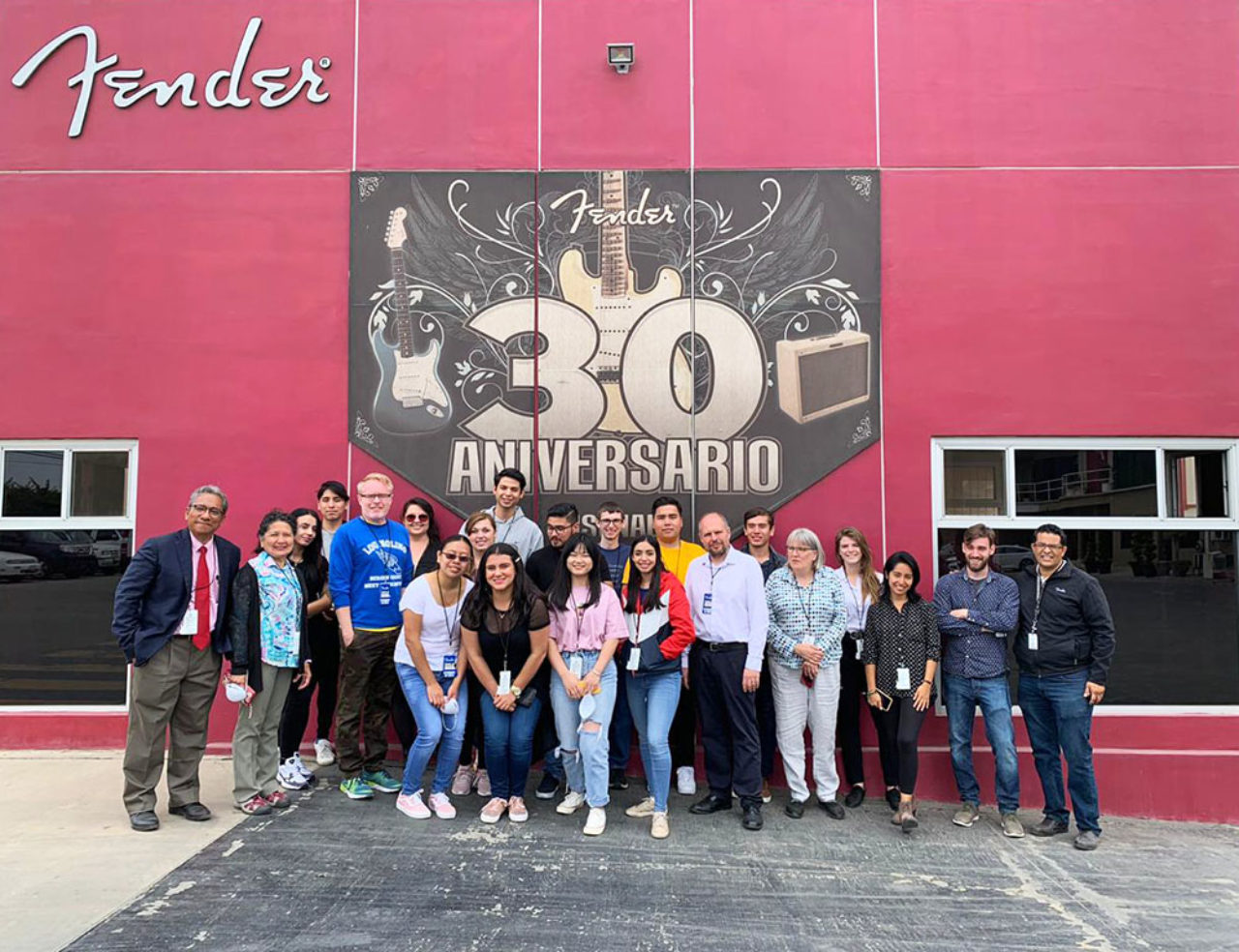 Students visit Fender's international site.