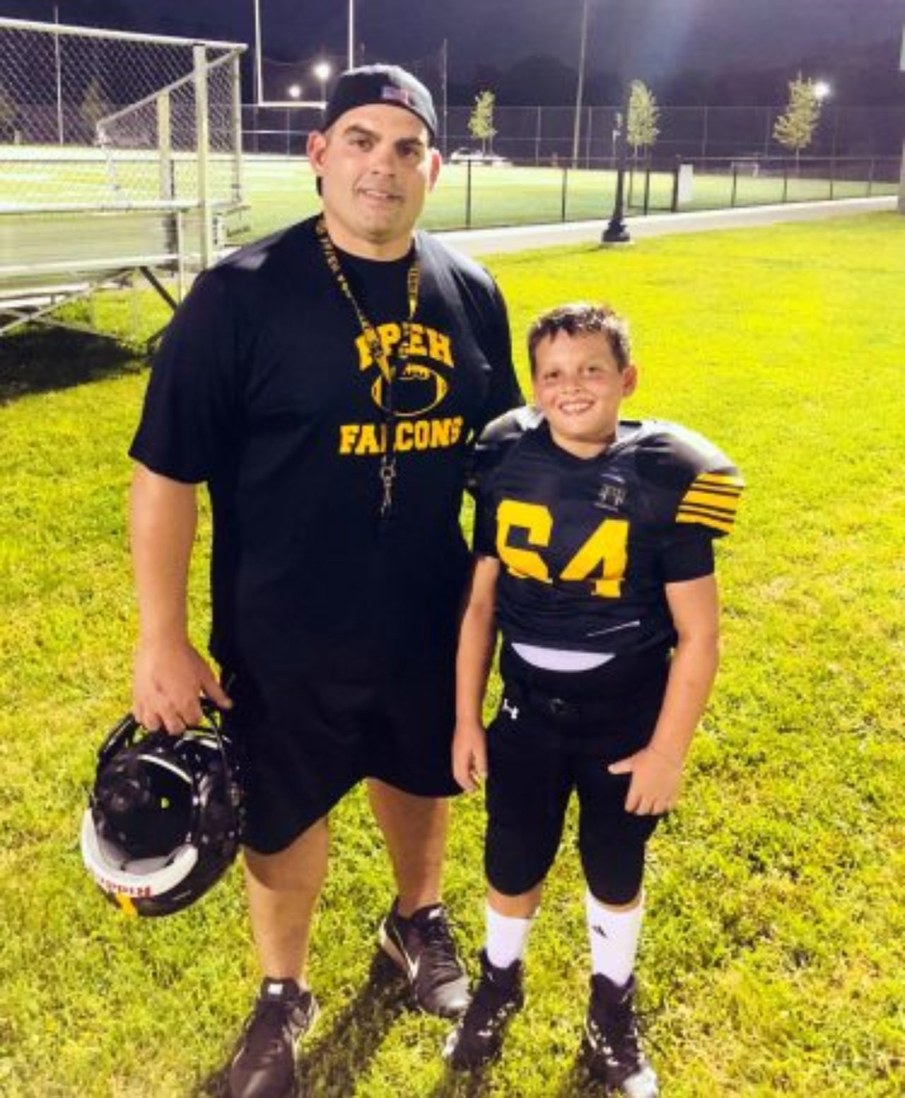 John Miscia with his son Michael.