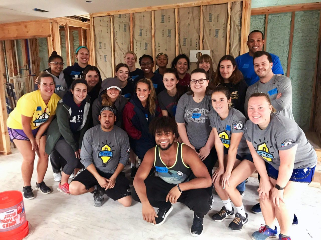 Knights bowling, fencing and softball help rebuild homes