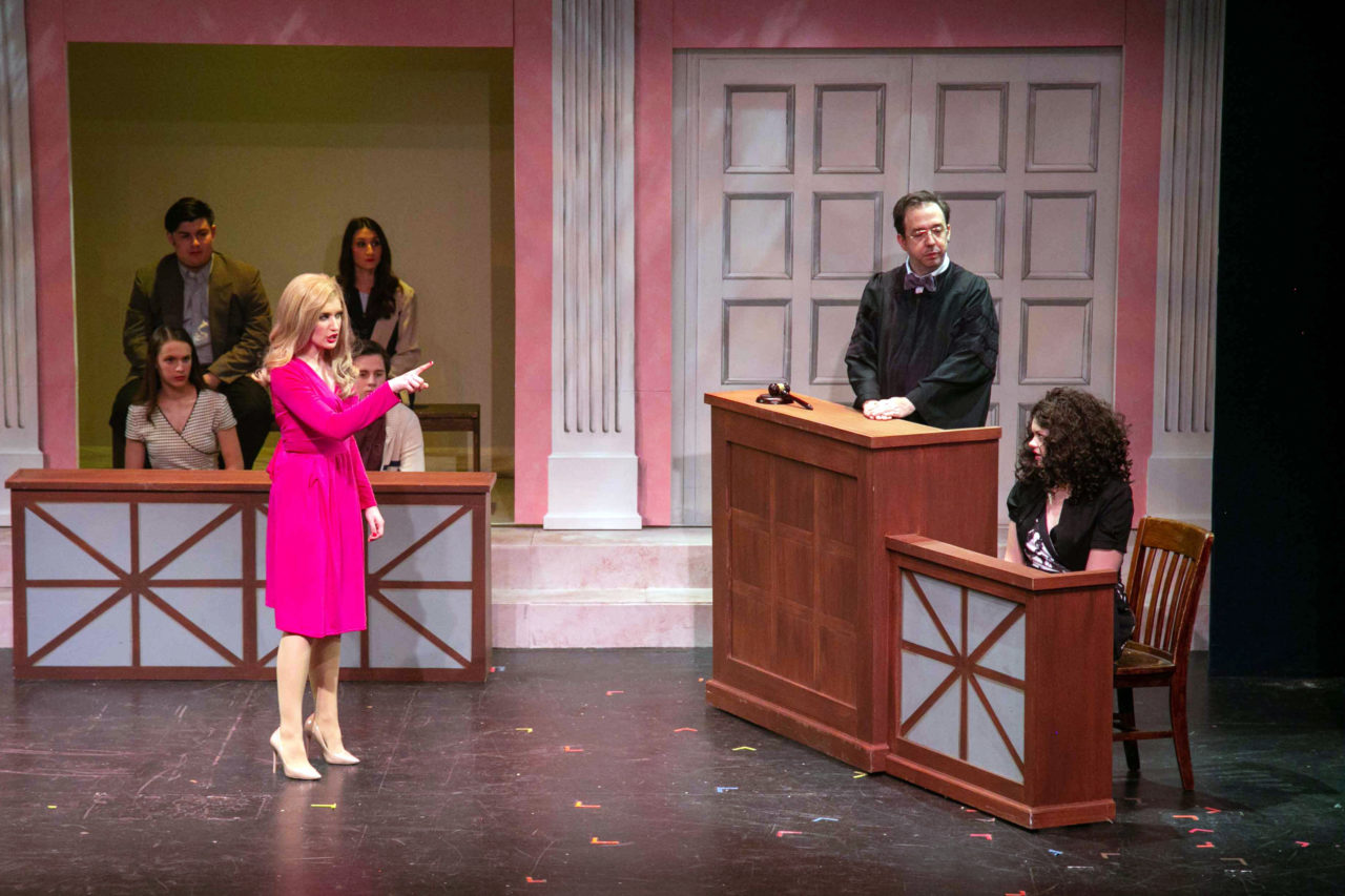"""Amanda Thomas plays Chutney Windham in the Dowtown Cabaret Theater's performance of """"Legally Blonde."""""""