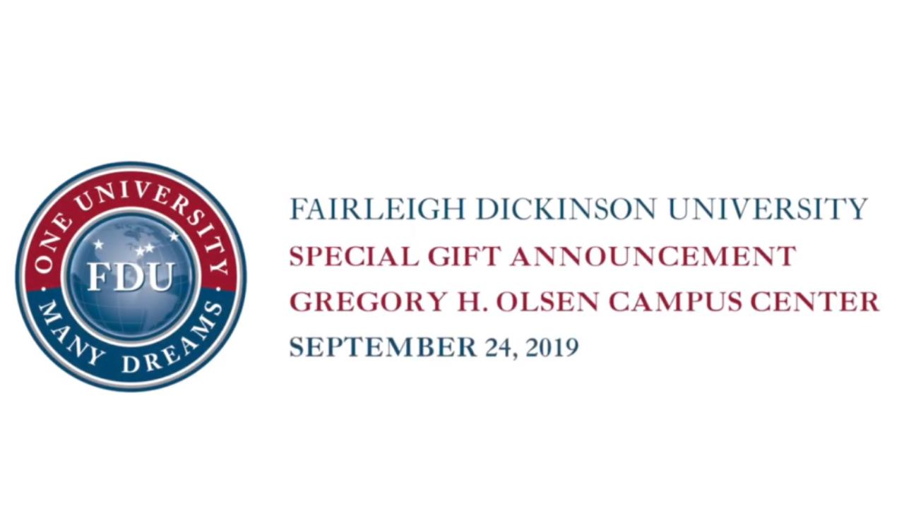 Olsen Campus Center Announcement