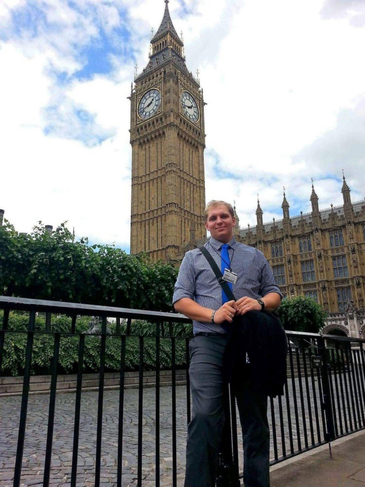 Chris Orsini visits Big Ben in London
