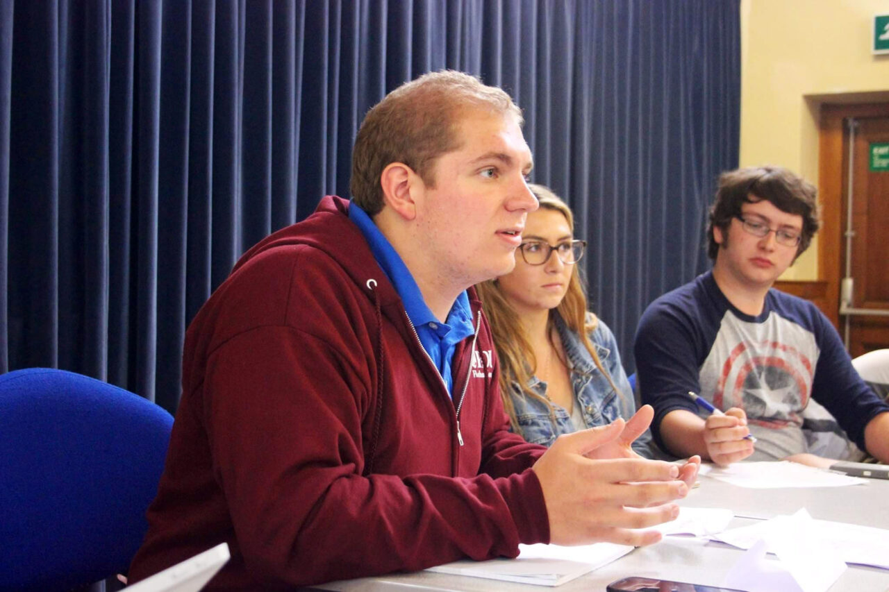 Orsini participates in a debate