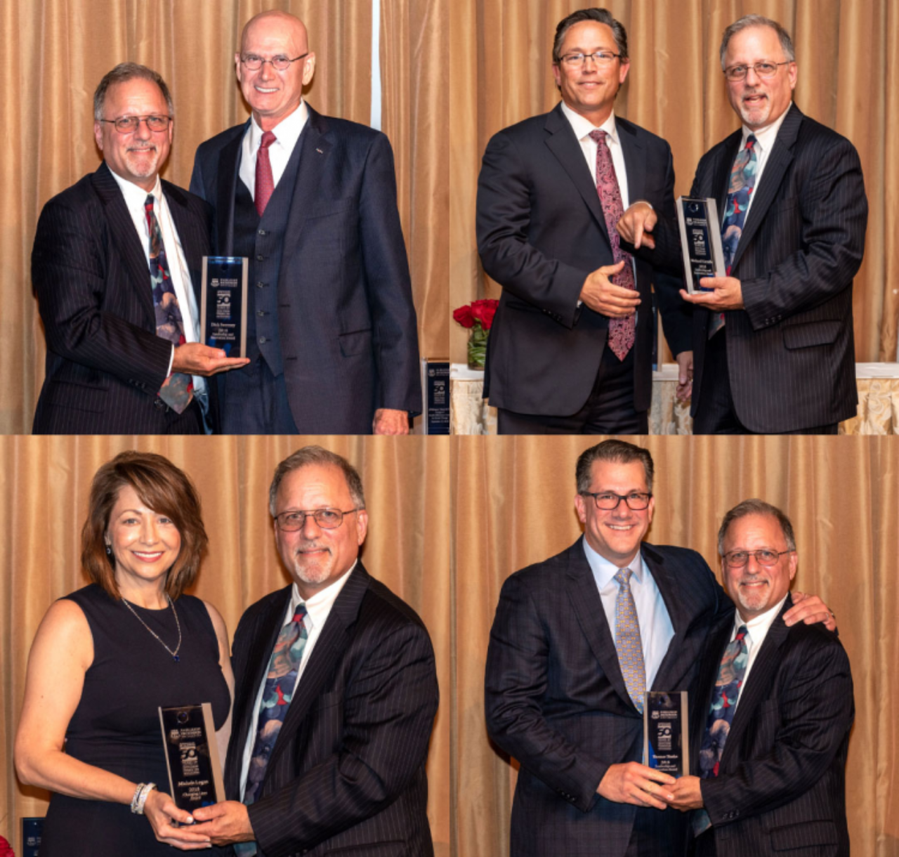 The 2018 Silberman 50th anniversary honorees with Dean Andrew Rosman: