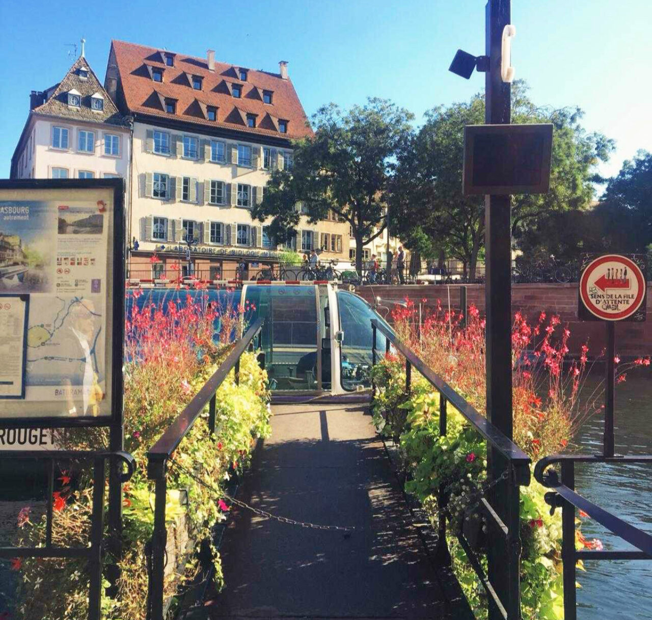 A sunny and vibrant day in Strasbourg, France!