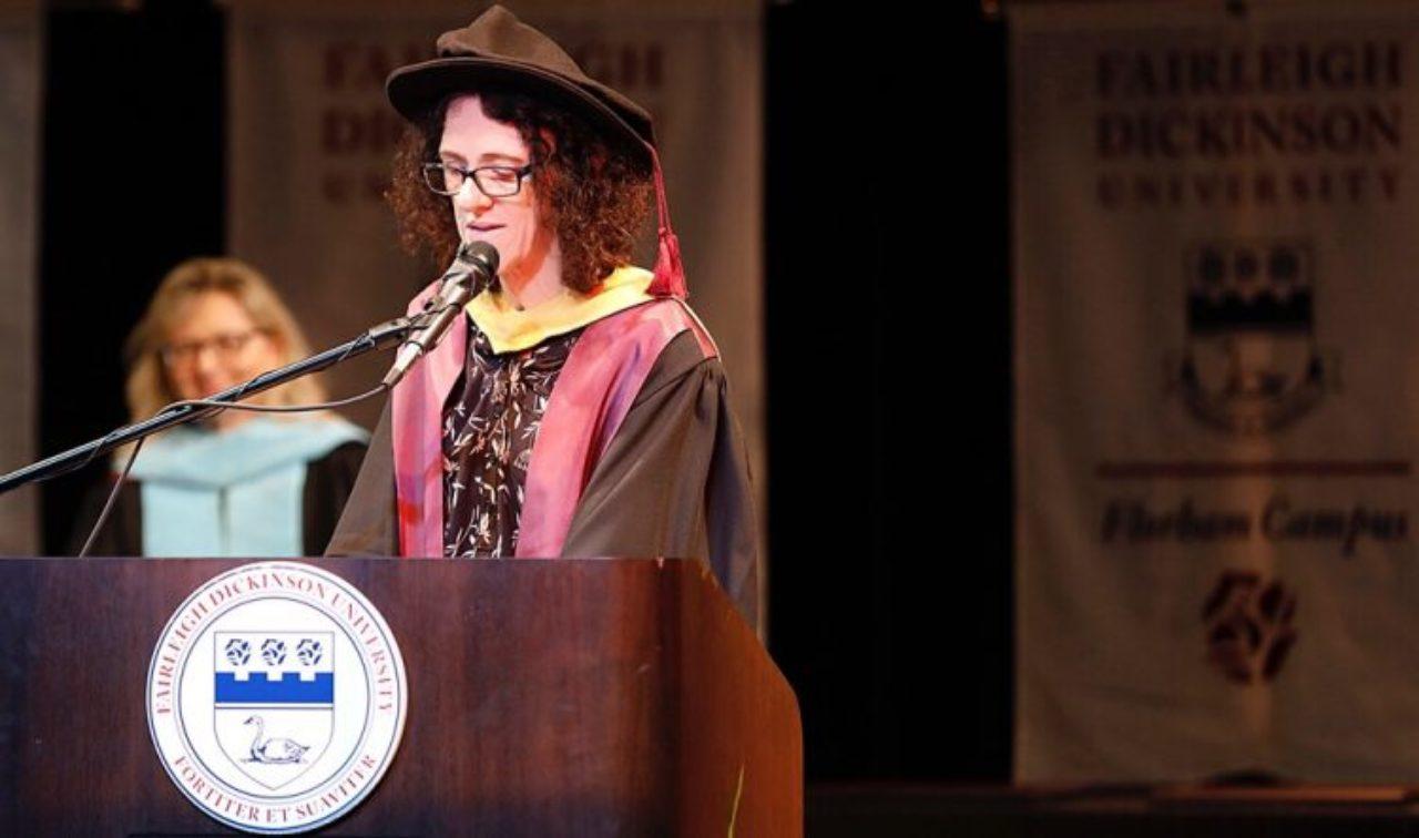 Gillian Small giving speech