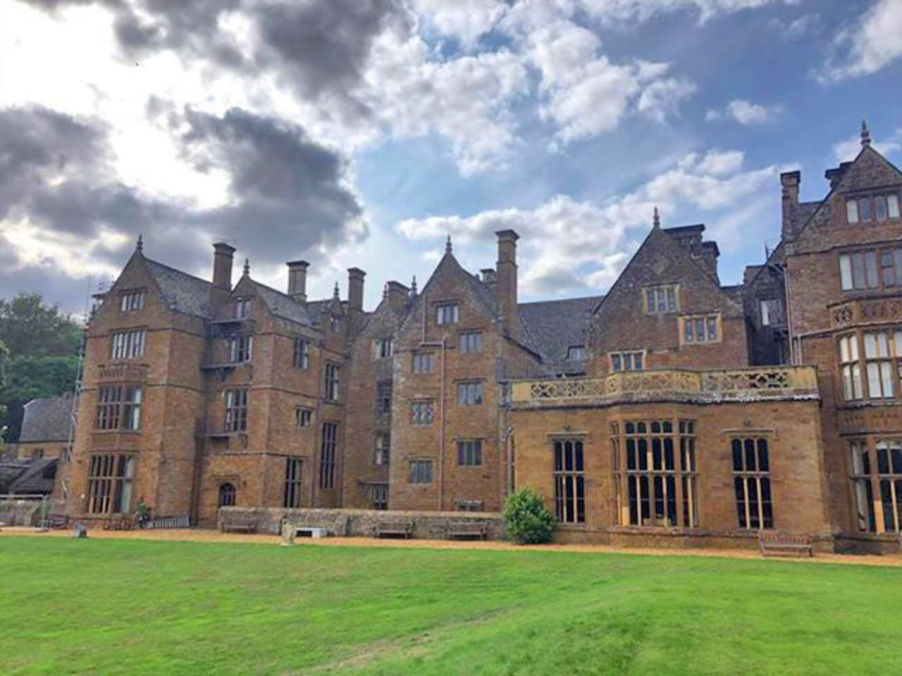 The back of Wroxton Abbey
