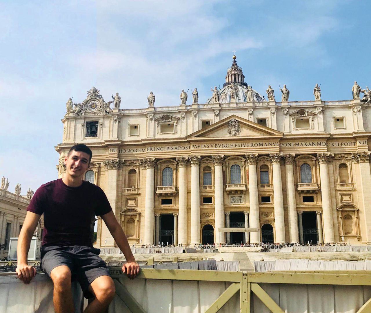 Fiorenza visits Vatican City while in Rome.