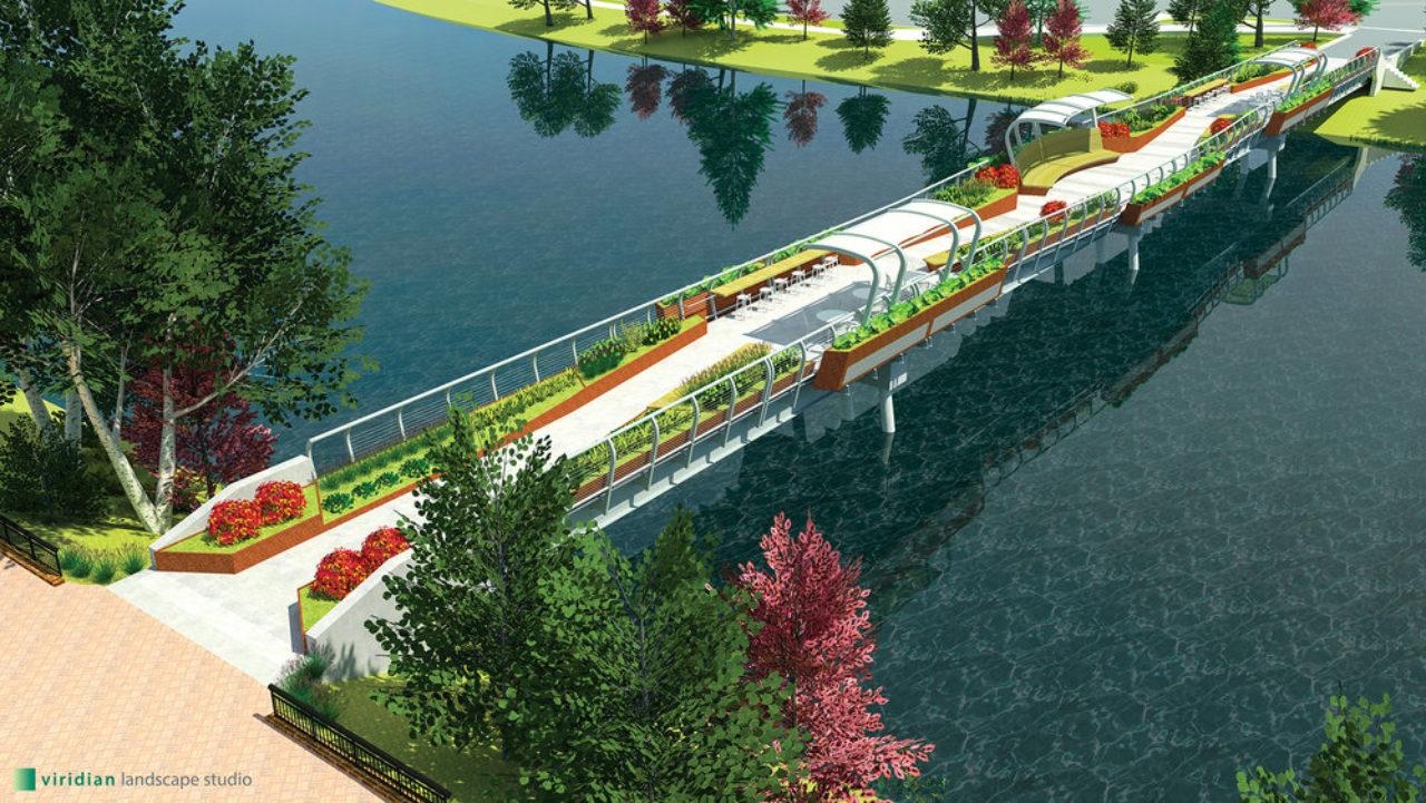 Final footbridge after renovation