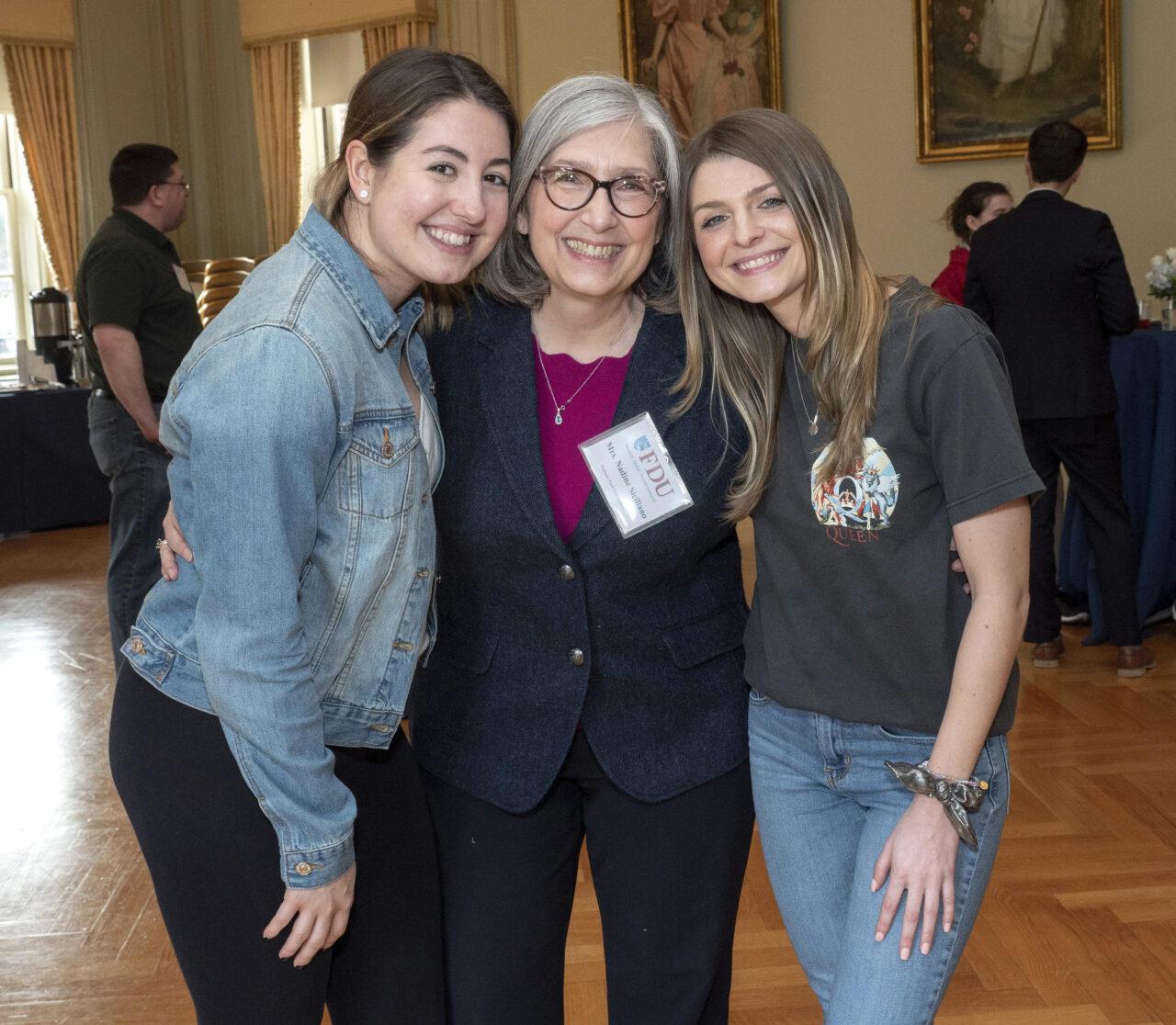 Junior Alexandra Lombardi (left) with her Hanover Park High School teacher Nadine Siciliano (middle) and Hanover Park alumna Stephanie Cardoso (left).