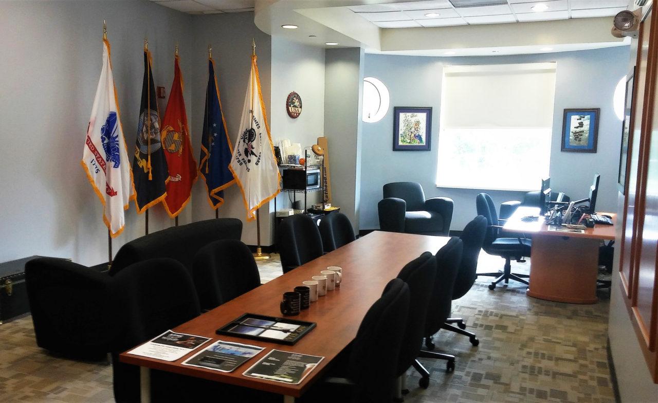 The new veterans lounge at FDU's Florham Campus.