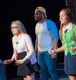 """Students sing selections from """"Avenue Q"""" and """"Merrily We Roll Along."""""""