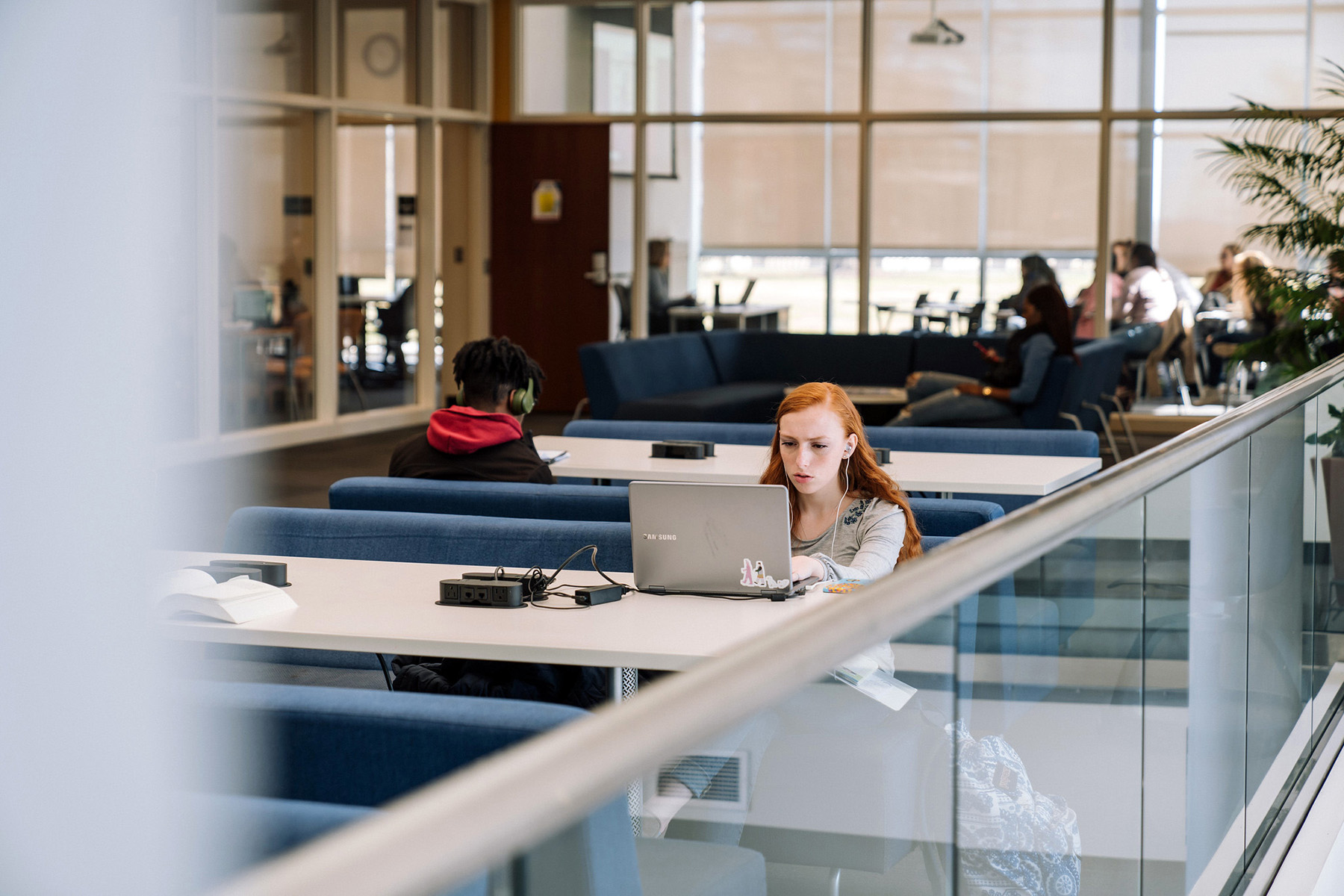 Students study in the Monninger Center.