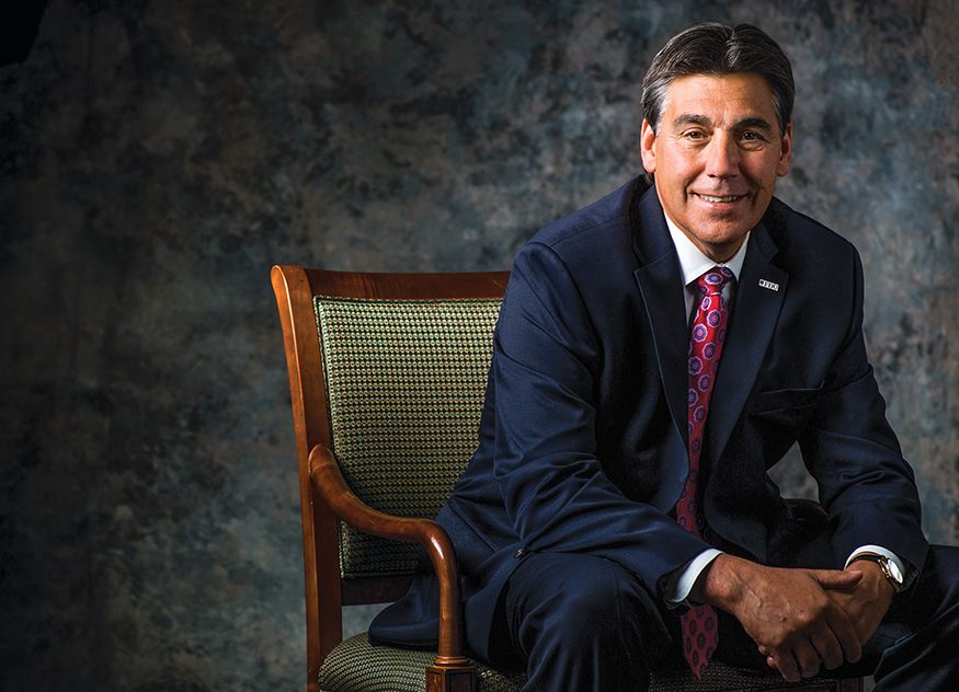A portrait of FDU President Christopher Capuano