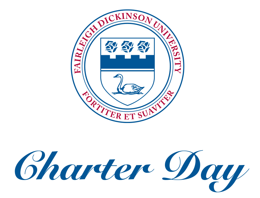 The FDU Seal with the words Charter Day underneath.