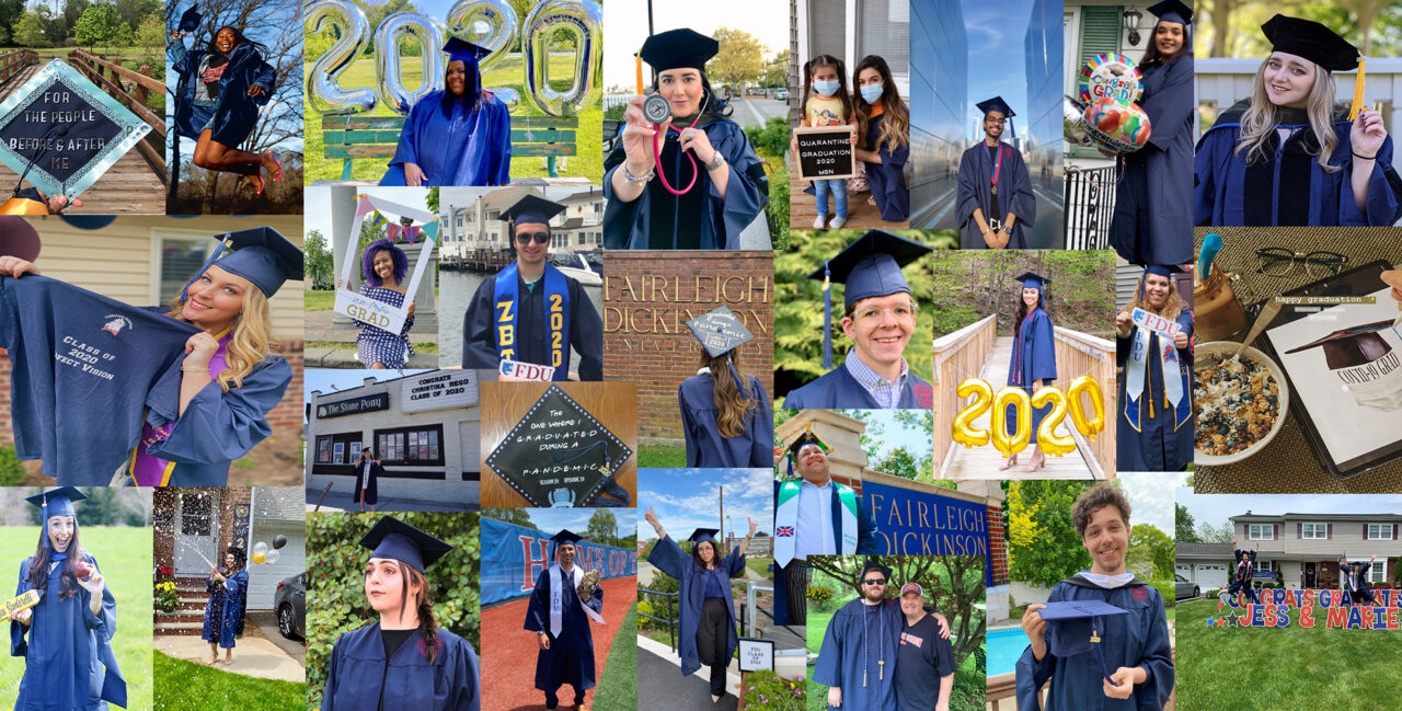 Individual photos of students from the 2020 conferral of degrees held on May 18, 2020