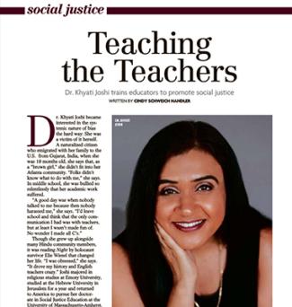 Screenshot of Khyati Joshi featured in the Milburn & Short Hills Magazine