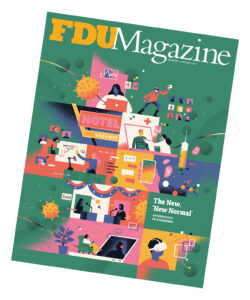 The cover of the Winter/Spring 2021 issue of FDU Magazine.