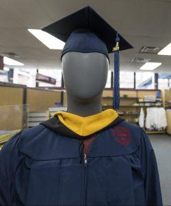 FDU Graduation cap and gown