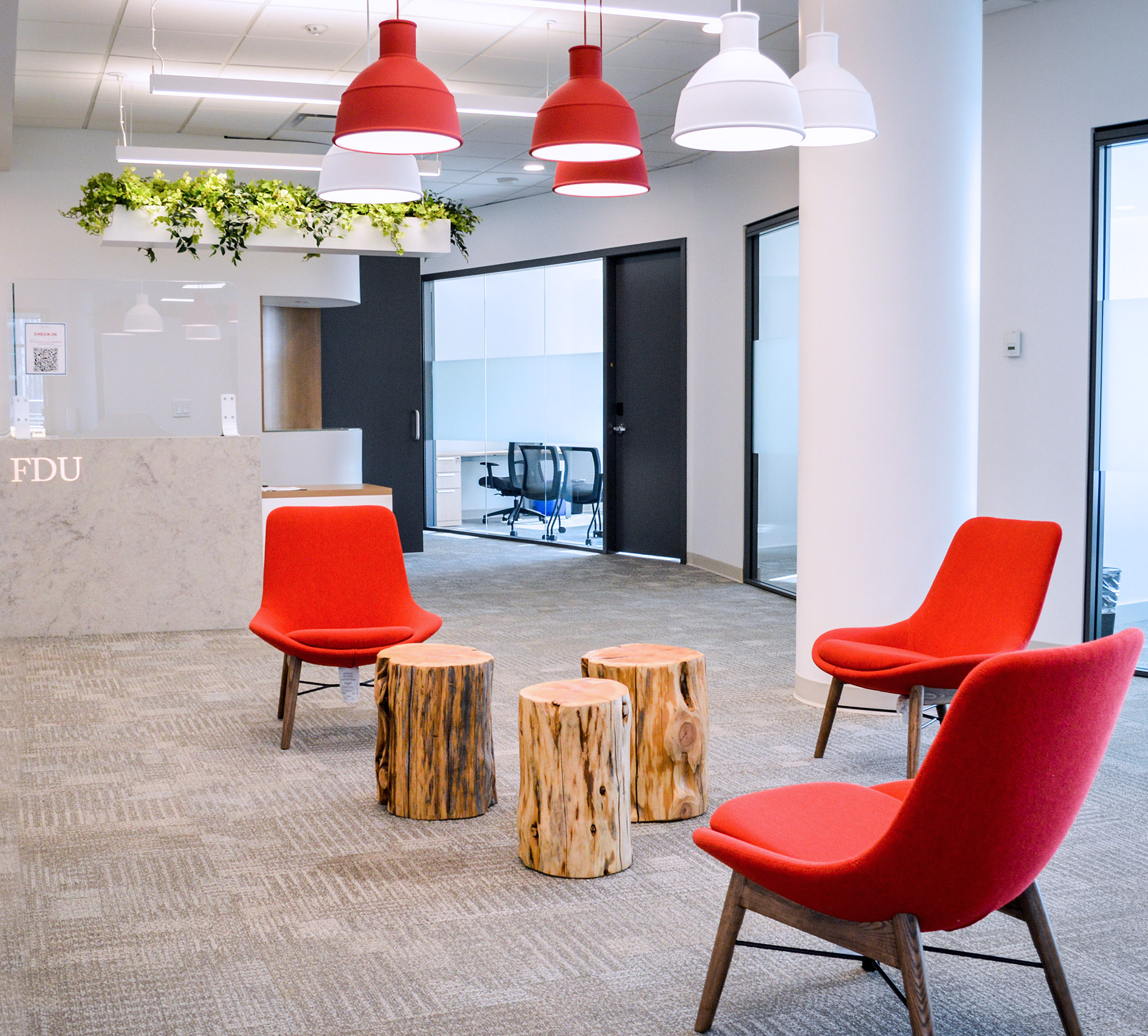A reception area in the new Vancouver building.