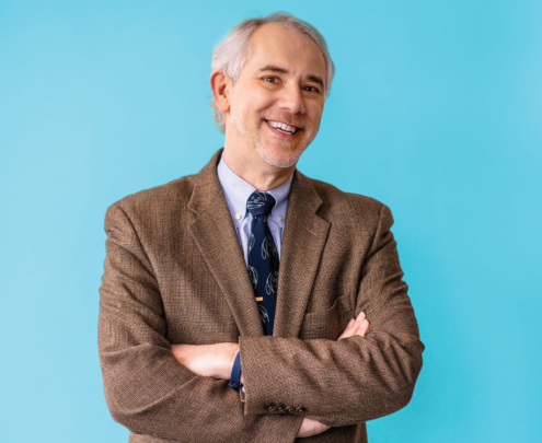 Portrait of a male professor