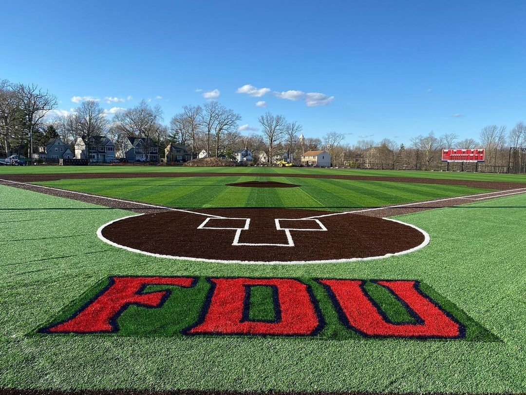 The view of the field from behind home plate at the Vincent J. and Lenda F. Naimoli Ballpark.